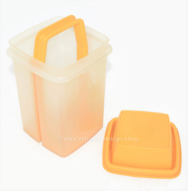 Pick A Deli - Tarro de encurtidos vintage de plástico, Pickle Holder de Tupperware en amarillo