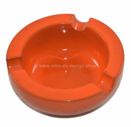 ADCO vintage earthenware orange ashtray