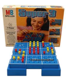 Vintage Super3, boter, kaas en eieren van MB spellen 1978