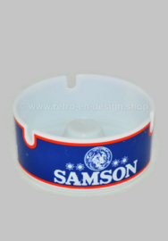 Round vintage ashtray made of melamine for Samson
