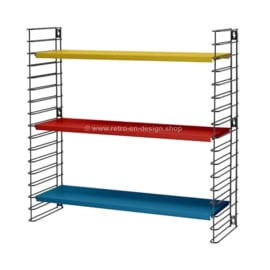 Retro Tomado wall rack in original red, blue and yellow colors from 1958