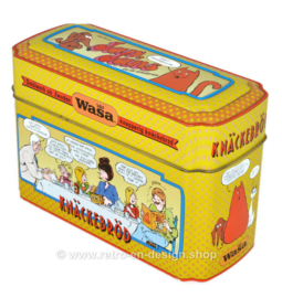 ​Vintage storage tin for WASA crispbread with Jack, Jacky and the Juniors by Jan Kruis
