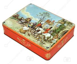 """Vintage Dose """"Cross Keys"""" von McVitie mit Kutsche, Pferden, Hunden und Menschen"""