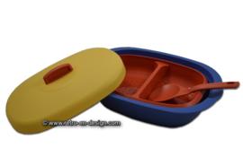 Tupperware Serveerschaal met deksel en opscheplepel