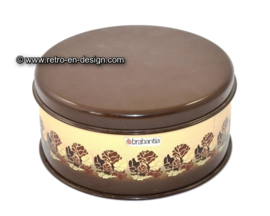 Brabantia tin with beige / brown floral patern