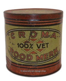 Vintage tin made by Croma rood merk 100% vet