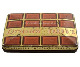 Rechthoekig vintage blik voor DRIESSEN chocolade carro's