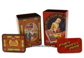 Nostalgic retro coffee tins by Douwe Egberts