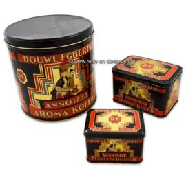 Vintage set of Douwe Egberts tins