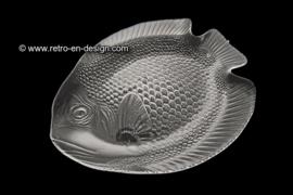 Large vintage fish plate Arcoroc France, poisson
