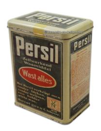 Rectangular retro tin Persil detergent