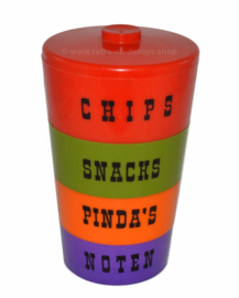Vintage stackable plastic snack tower from the 1970s