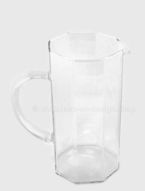Vintage glass Pitcher or Jug made by Arcoroc France, Luminarc Octime-Clear