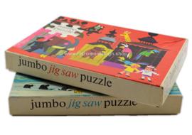 Two vintage Jumbo Jigsaw Puzzles