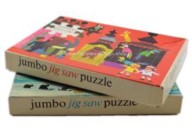 Set vintage Jumbo Jigsaw Puzzles