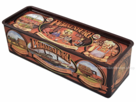 Rectangular vintage tin for Pijnenburg gingerbread, anniversary edition