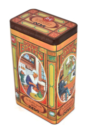 Coffee tin by Douwe Egberts with nostalgic images