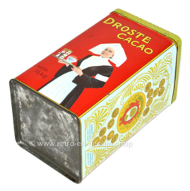 Vintage Droste Dutch cocoa tin with straight letters and nurse, net 1/2 KG