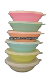 Tupperware dishes or bowls with lids