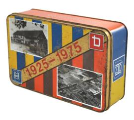 Jubileumtrommel ter gelegenheid van het 50-jarig bestaan van de fabriek in Hoogeveen van Thomassen & Drijver-Verblifa