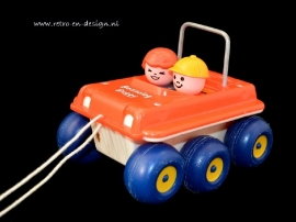 Vintage Fisher Price 'Bouncing Buggy' Automobil