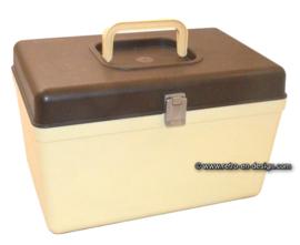 Curver vintage sewing box, sewing kit