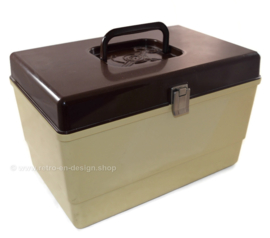 Vintage 'CURVER' sewing box or sewing case, 1970s