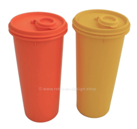 Set of two vintage plastic Tupperware containers
