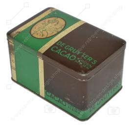 Vintage Blechdose für Green Mark Kakao von De Gruyter