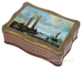 Boite vintage avec détail de peinture Willem van de Velde, Junior
