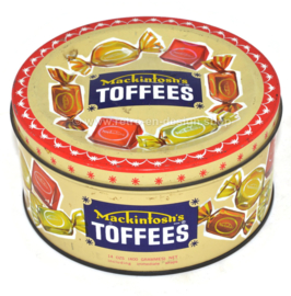 Lata de dulces vintage para Toffees de Mackintosh