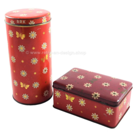 Vintage set of tins made by Ark consisting of a biscuit tin and cookie tin