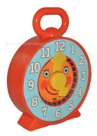 "Vintage ""See and say clock"" Nederlands sprekende of pratende klok van Mattel"