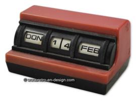 Vintage jaren '60 plastic kalender