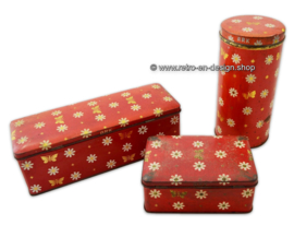 Beautiful old vintage set by Ark consisting of a cookie tin, gingerbread tin and biscuit tin