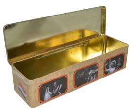 Boîte étain pour pain d'épice, 100 ans Reines des Pays-Bas