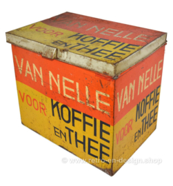 "Large Shop Tin for Coffee and Tea bij the ""Van Nelle"" brand, Rotterdam"