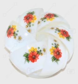 """Vintage cup and saucer with pattern """"Anemones"""" by Arcopal France"""