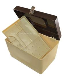 Boîte à couture 'CURVER' vintage des années 1970