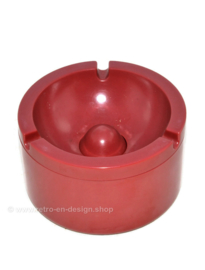 Dark red melamine ashtray by Rösti Mepal