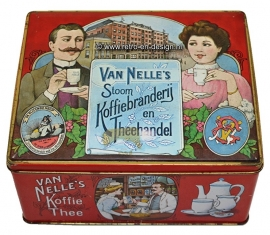 Blik Van Nelle's Stoom Koffiebranderij en Theehandel