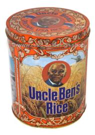 Uncle Bens Rice' Lata cilíndrica vintage para almacenar arroz