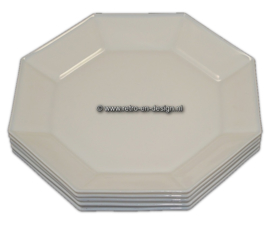 White breakfast plate, Arcoroc France, Octime Ø 25 cm