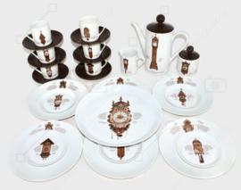 Das komplette 22-teilige Nutroma Uhrengeschirr-Set von Mitterteich Porzellan