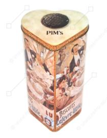 Boîte à biscuits vintage en forme de cœur pour Pim's fabriquée par LU, Lefèvre-Utile