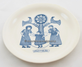Vintage breakfast plate with an image of Spakenburg and traditional costumes, Maastricht, 1961-1962
