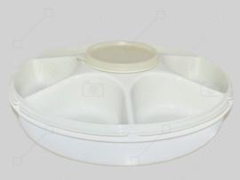 Vintage Tupperware divided serving centre - Large snack bowl, serving bowl or appetizer bowl