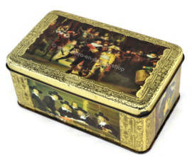 "Vintage cigars tin by ""ERNST CASIMIR"" with depictions of paintings by Rembrandt"