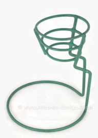 Plasticized metal mint green drip stand or bottle dripper made by Tomado