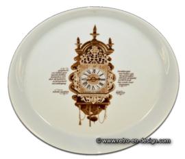 Plaque à pâtisserie du 'Clocks Service' Nutroma, Mitterteich Porzellan